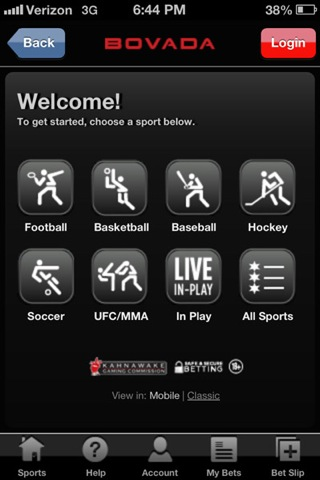 android sports betting